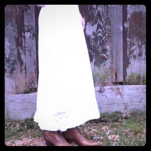 Victorian white crochet slip skirt